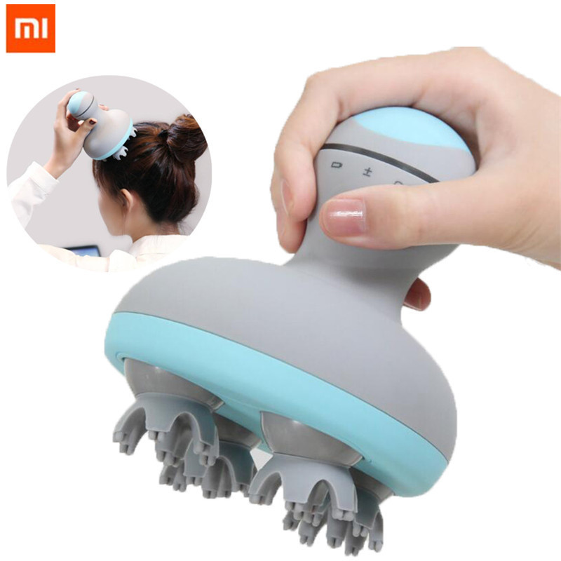 Xiaomi 6 kinds of massage manual massage instrument MINI head massager 3D stereo massage two way surround Four Wheel Rotation