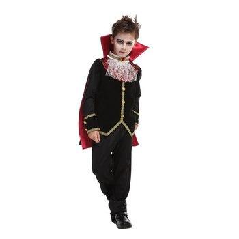 Scary Gothic Boys Vampire Dracula Halloween Costume 1
