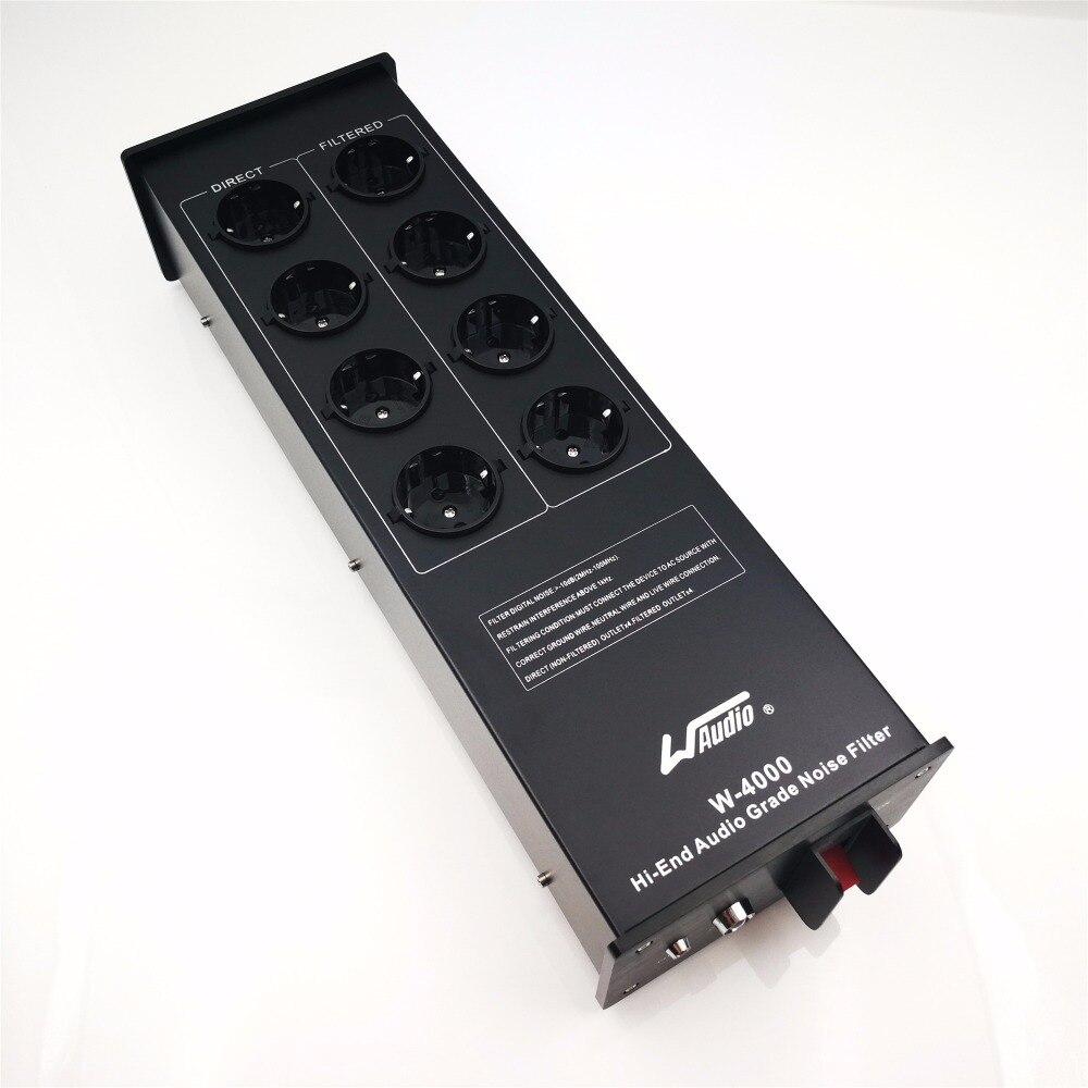 WAudio W-4000 Haut de Gamme Audio Bruit Filtre AC Power Conditioner Puissance Filtre Puissance Purificateur avec L'UE Sorties