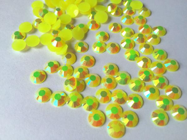 4 mm geléia citrino AB cor, Ss16 strass resina cristal flatback, Frete grátis 50,000 pçs/saco