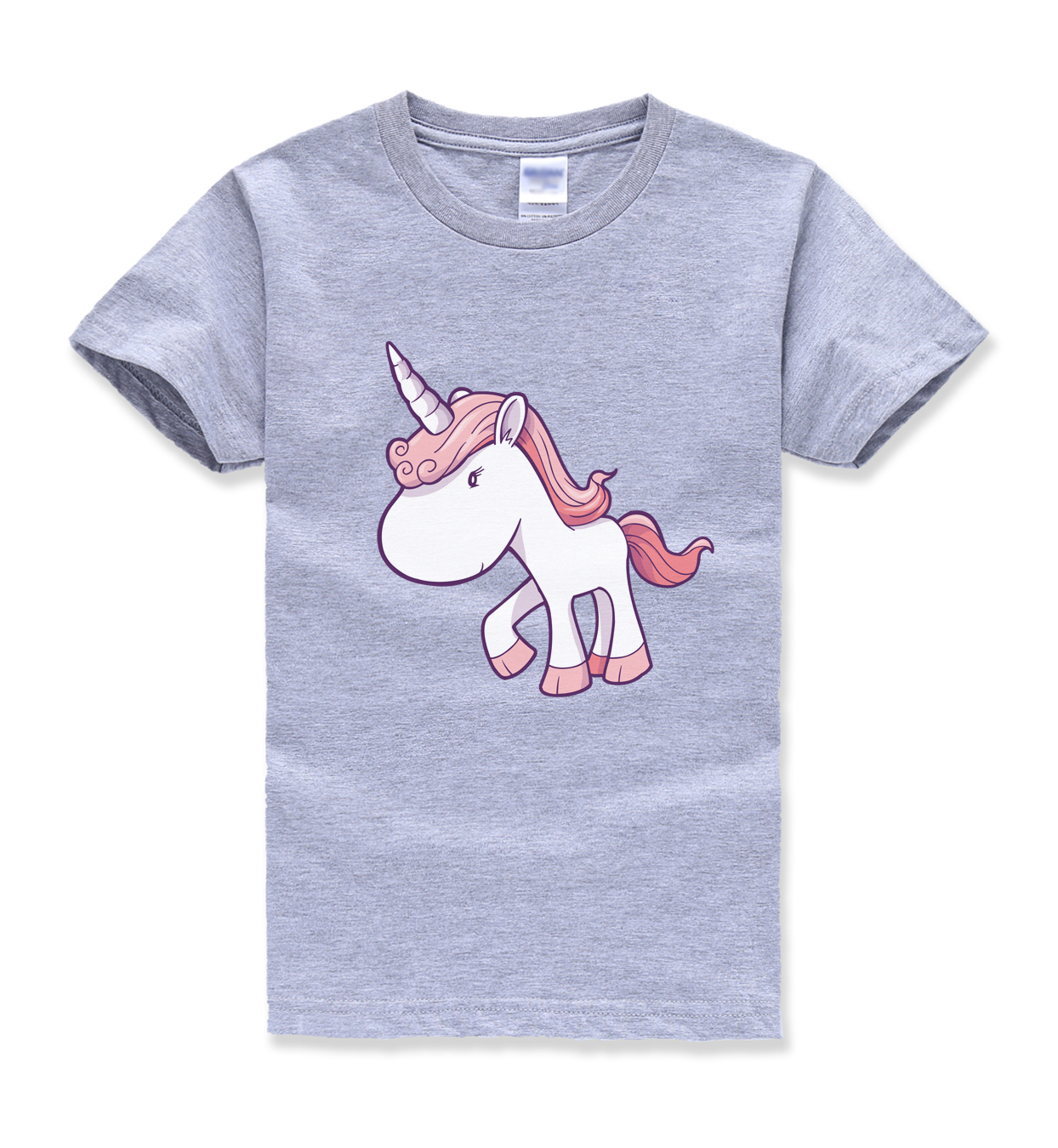 2018 summer new fashion hot sale unicorn printing tops t shirt kids horse kawaii t shirts boys girls short sleeve harajuku shirt