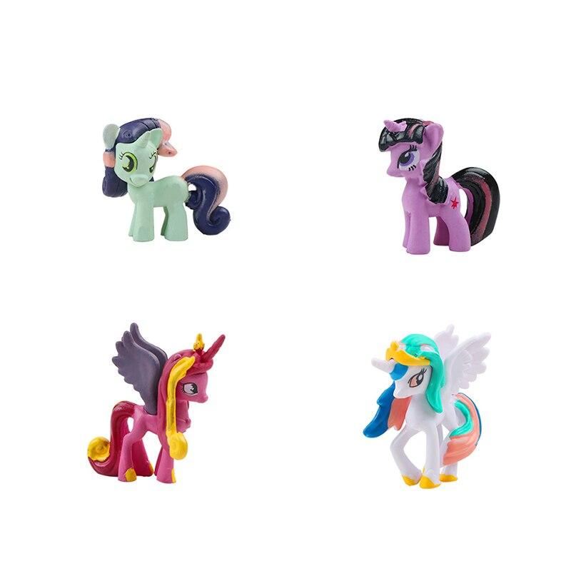 12PCS/Set Hasbro My Little Pony Toys Rainbow Dash Apple ...