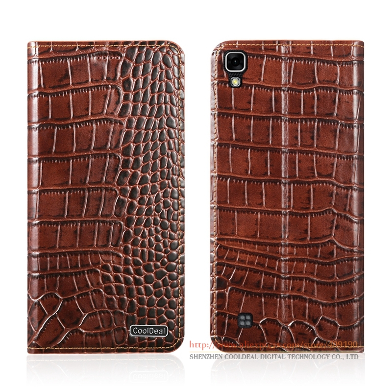 """bilder für Magnetic Flip Case Für LG X Power K220ds K220y K220 LS755 US610 K450 5,3 """"Crocodile Linien Echtes Leder-kasten"""