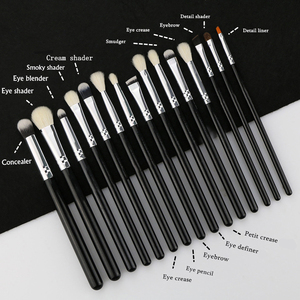 Image 5 - BEILI Black Professional NO Logo Goat hair brush Powder Foundation Contour Concealer  Eyes Blending 25 pcs Makeup Brush set