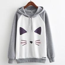 Women men Owl Cat Print Grey Hoodies (30 animal print choice) (size S-L)