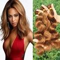 Fashion #30 Medium Auburn Onda Do Corpo Do Cabelo Brasileiro 3 Peça Cor Acaju Cabelo Brasileiro Virgin Hair Extension Onda Do Corpo feixes