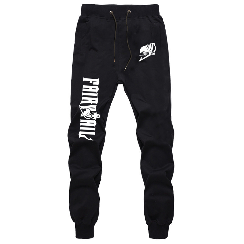 New Casual Cotton Sweat Breathable Pants Casual Anime Fairy Tail Pants Natsu Men Women Jogger Jogging High Quality Long Trousers