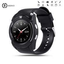V8 Bluetooth Smart Watch With Camera Cool Smartwatch Women/Men Phone Clock Call SIM TF Camera Clock Android Round Watch PK DZ09