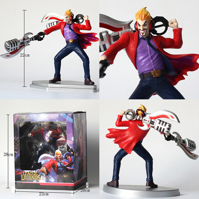 LOL League of Legends figure Action Game Draven Glorious Executioner Character Model Toy Action 3D Game Heros anime party Gift 5