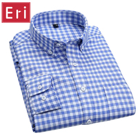 Oxford Men Shirt 2016 Brand Business Casual Long Sleeve Turn Down Collar Men S Dress Shirt