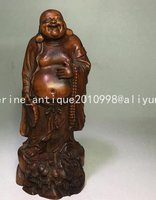 Collection old Boxwood Buddha statue / sculpture,Hand carving crafts, best adornment & collection, free shipping