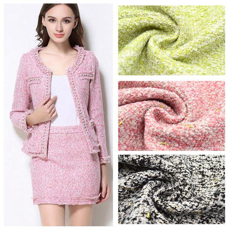 Outono e Inverno Tecido Tweed pequena Flor Quebrada Para O Vestido Tecidos Tecidos Parágrafo Roupa Costurar Roupas DIY Moda Sobretudo de Lã