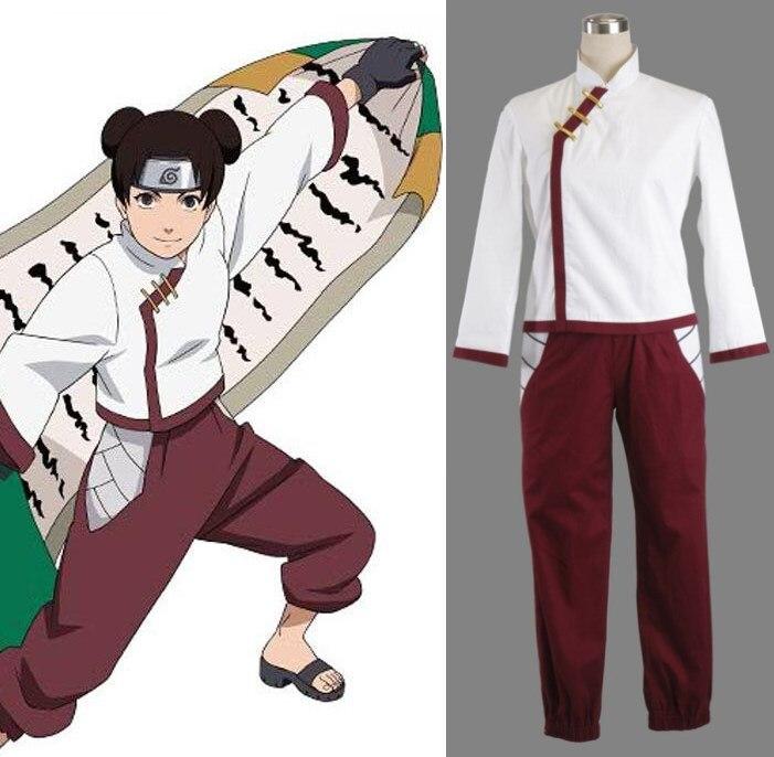 Naruto Shippuden Tenten Cosplay Costume Full Set FREE P/&P
