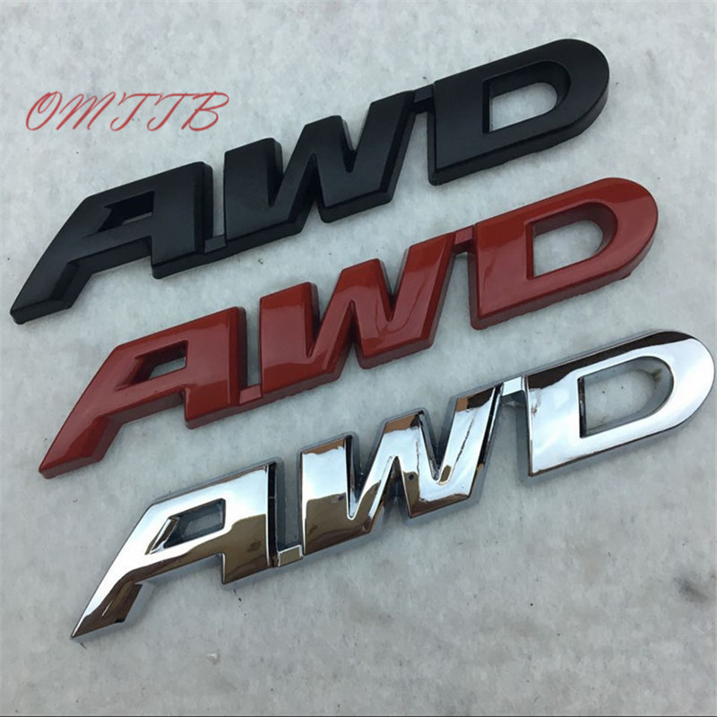 3D Metal <font><b>Sticker</b></font> AWD Emblem Badge Logo Tail Fender Decal Accessories for Toyota Impreza Subaru Honda <font><b>4X4</b></font> <font><b>Off</b></font> <font><b>Road</b></font> Car Styling image