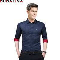 Dudalina New Arrived Brand Clothing Male Shirt Long Sleeve Shirt 2017 Summer New Slim Fit Shirt