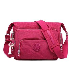 Image 1 - TEGAOTE Messenger Bags Women Crossbody Shoulder Bag Lady Bolsa Feminina Mujer Large Solid Beach Travel Bag Female Zipper 2020