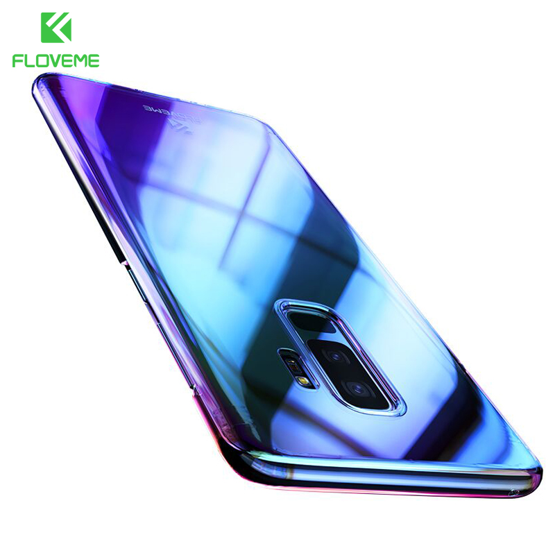 FLOVEME Aurora Blue Ray Phone Case For Samsung Galaxy S9 S9 Plus Ultra Thin PC Cover For Samsung S8 S6 S7 Edge Note 8 Cases Capa