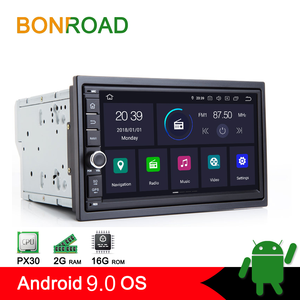 "Bonroad 7""2din PX30 Android 9.0 Universal GPS Radio Stereo Audio Car Multimedia Player For Nissan For kia For Toyota For Honda"