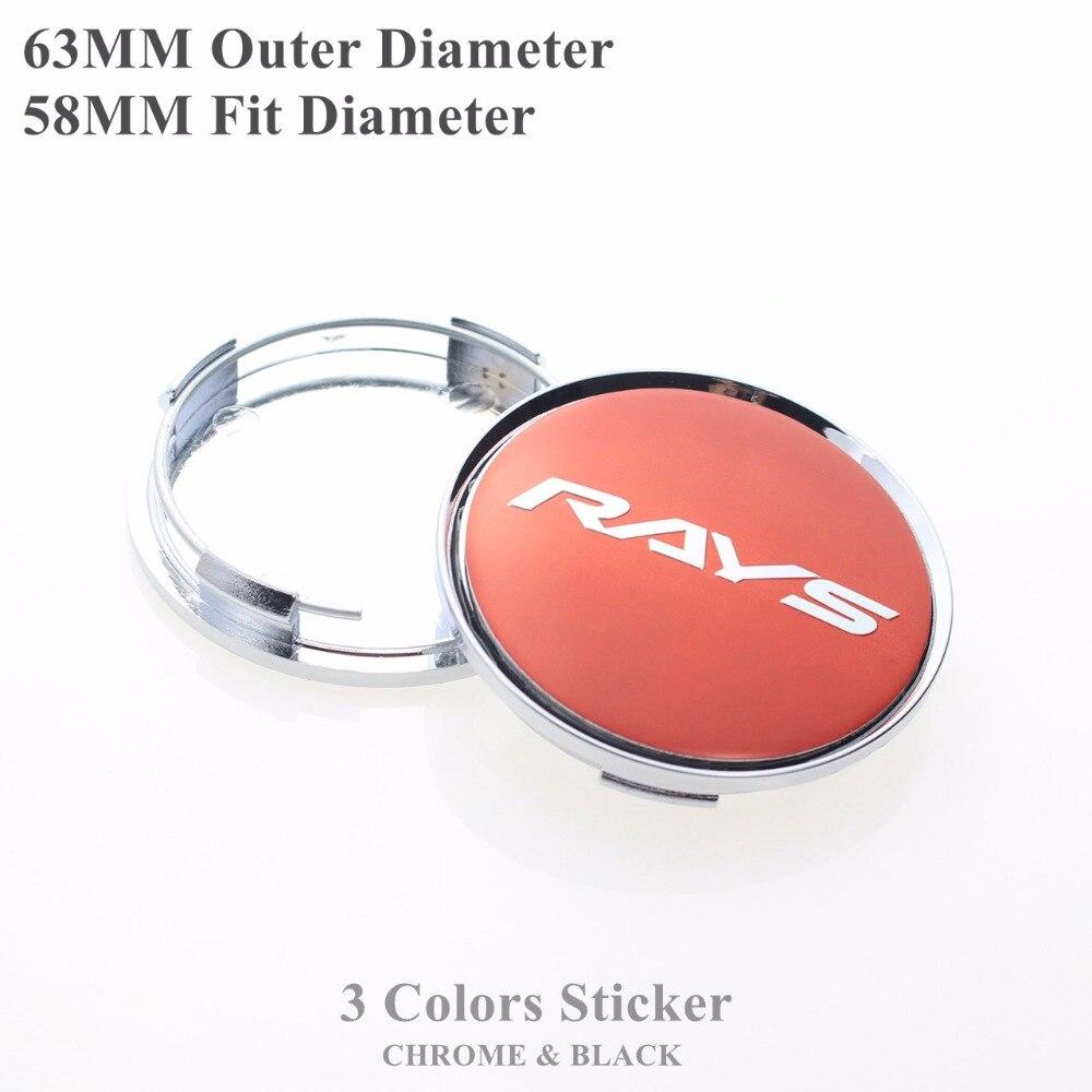 63mm Caps For Rays Logo Wheel Center Cap For Rims Hubcap