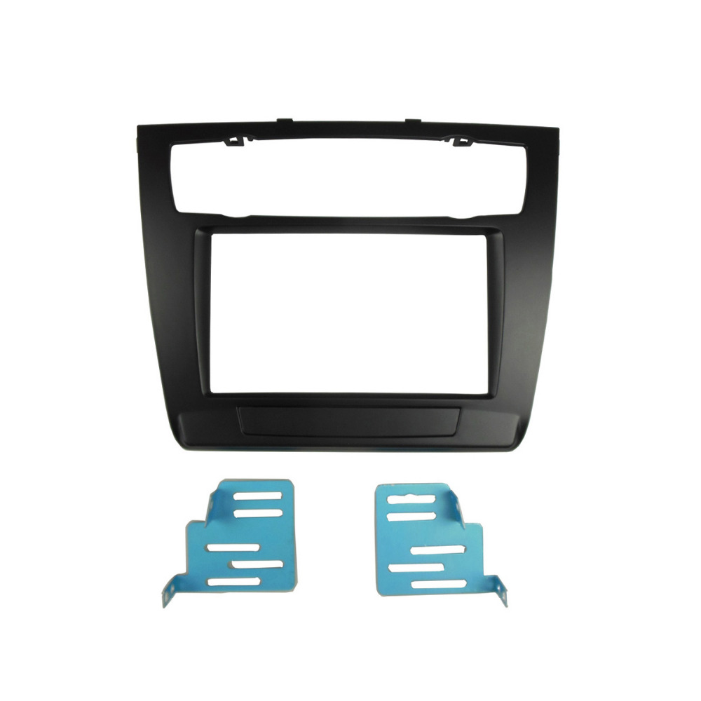 все цены на Double Din Fascia Radio CD DVD GPS Stereo Panel Dash Mounting Trim Kit Surrounded Frame For BMW series 1 2004 2007 2011 E82 онлайн