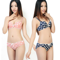 SMT206Women's Girl's Fashion Breathable Push Up Padded Cute Heart Bowknot Underwear Set