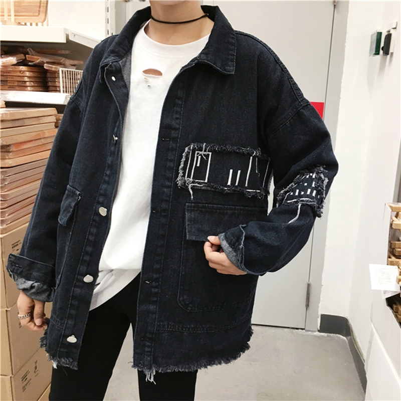 2017 Trendy Casual Jeans Jacket Women Jaqueta Feminina Holes Black Autumn Jacket Women Coats Loose Boyfriend Women Jacket XGZ006 ...