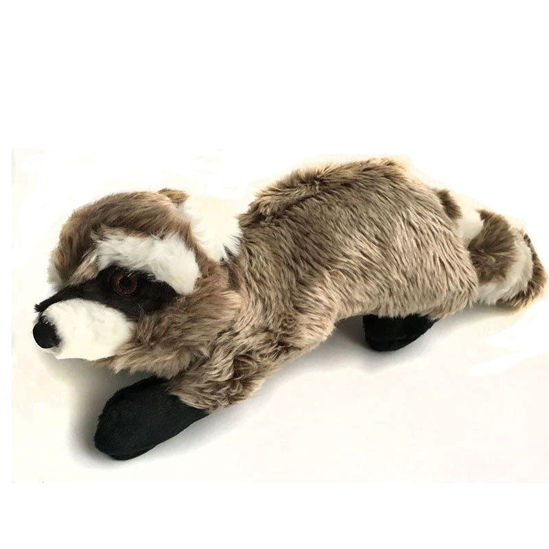 realistic fur fox lifelike wolf amp raccoon stuffed animal - 800×800