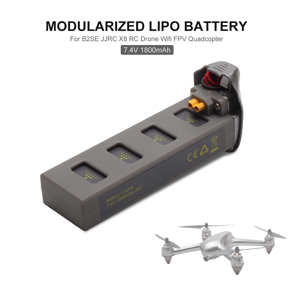 Drone with Camera 7.4V 1800mAh Modularized Lipo Battery for MJX B2SE JJRC X8 RC Drone Wifi FPV RC Quadcopter