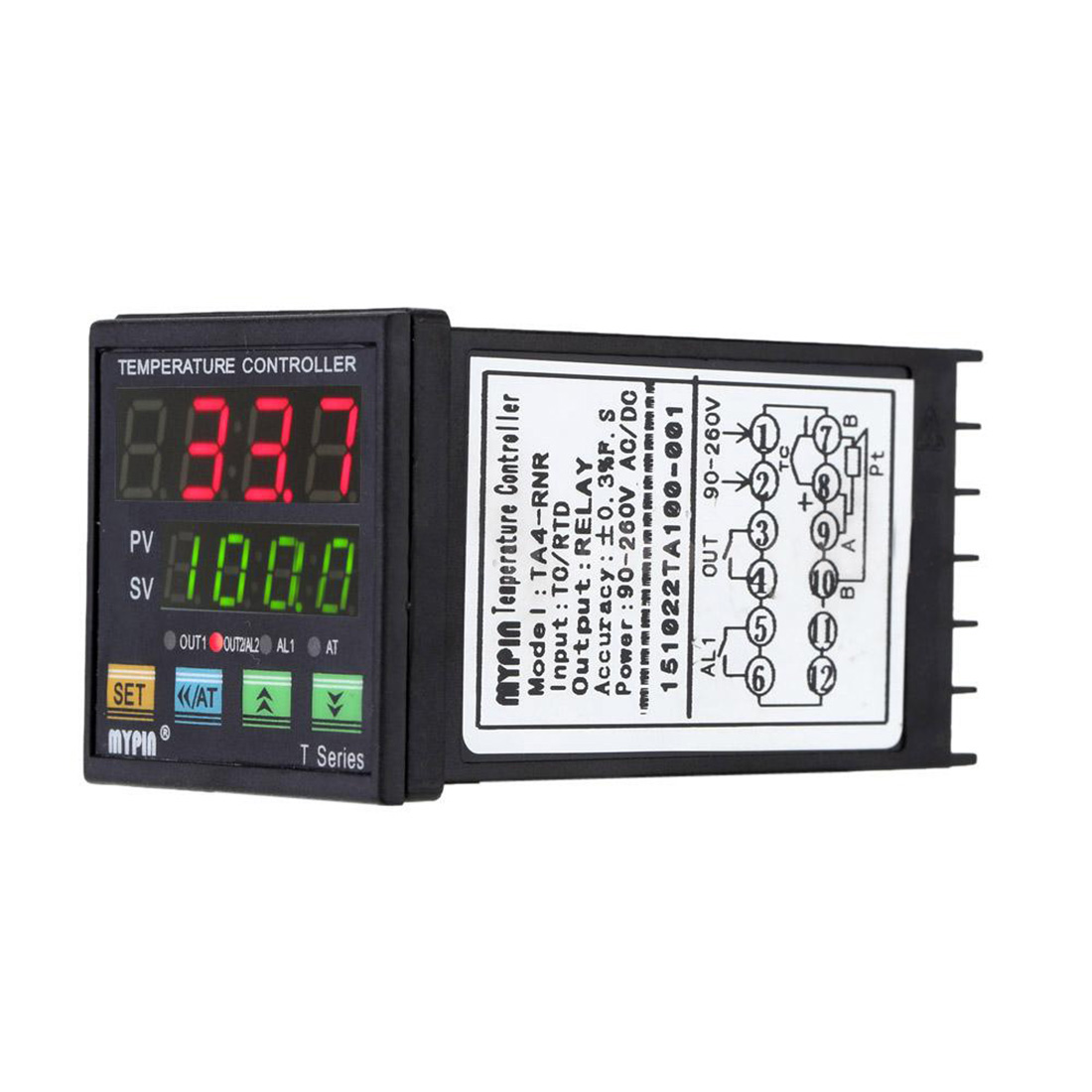 MYPIN Digital LED PID Temperature Controller + PT100 RTD Thermistor Sensor Probe stc 1000 digital all purpose temperature controller with sensor for aquarium