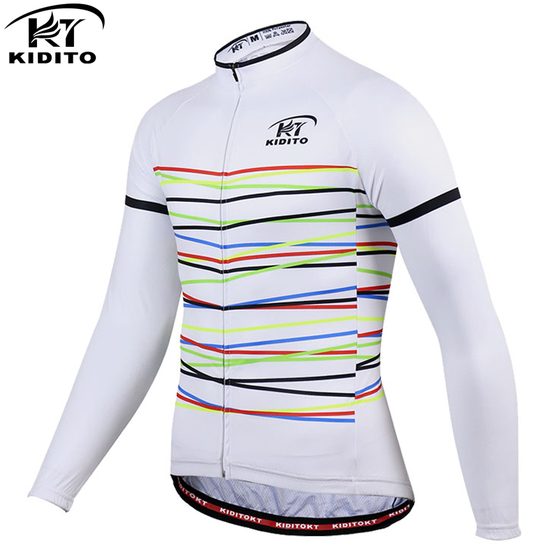 KIDITOKT Long Sleeve Cycling Jerseys Quick-dry MTB Bicycle Cycling Clothing Maillot Ropa Ciclismo Sportswear Bike Clothes