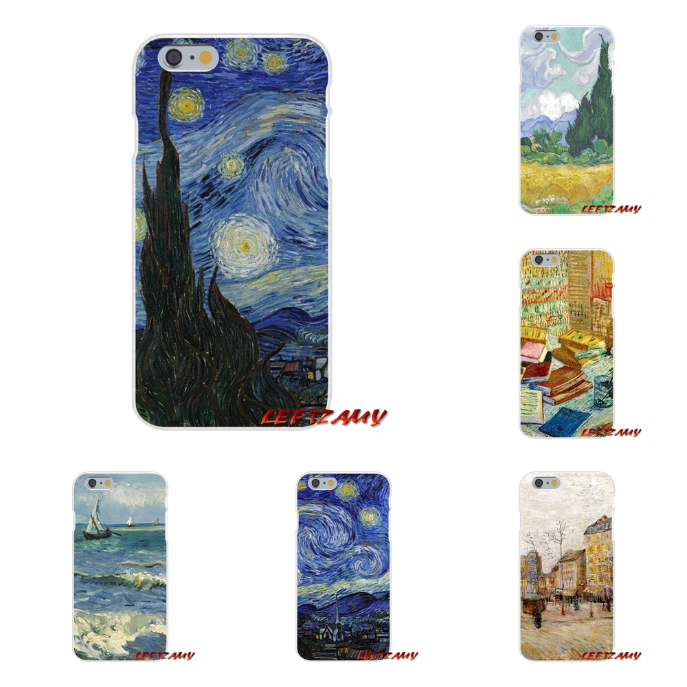 Vincent Van Gogh Starry Sky Oil Slim Silicone phone Case For Samsung Galaxy S3 S4 S5 MINI S6 S7 edge S8 S9 Plus Note 2 3 4 5 8