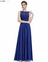 Prom Dresses Free Shipping 2015 Women S Gorgeous Round Neck Lace Long Vestido De Festa Longo