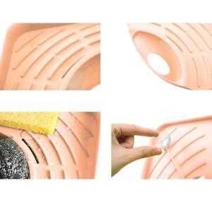 Image 5 - حار 1 قطعة الحمام المطبخ بالوعة الزاوية تخزين الرف المنظم سبونج متعددة الوظائف الرف جدار المطبخ طبق رف استنزاف الأجهزة