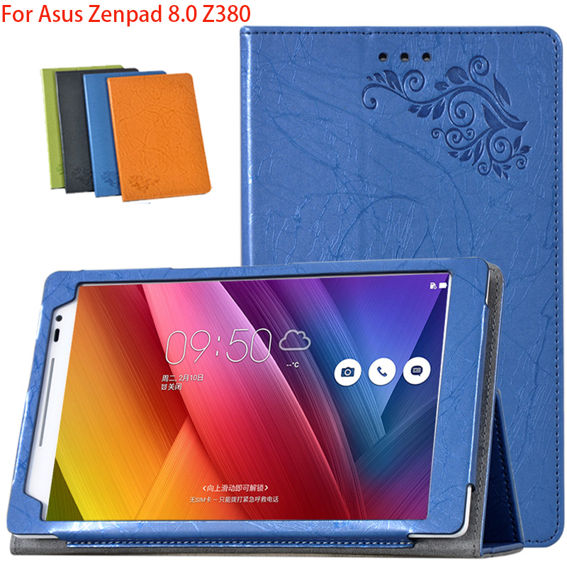 Leather Stand Flip Case For Asus Zenpad 8.0 Z380 Z380C Z380KL P024 Magnet Cover Protective Cases Tablet Shell + Screen Protector new palmrest cover case for asus ux32 ux32e ux32a ux32dv ux32vd c shell 13n0 mya0521 13gnpo1am062 1