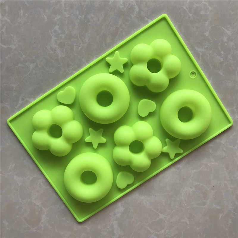Blume donut Silikon kuchen form Aromatherapie kerze form Handgemachte seife form kuchen dekorieren werkzeuge Schokolade form
