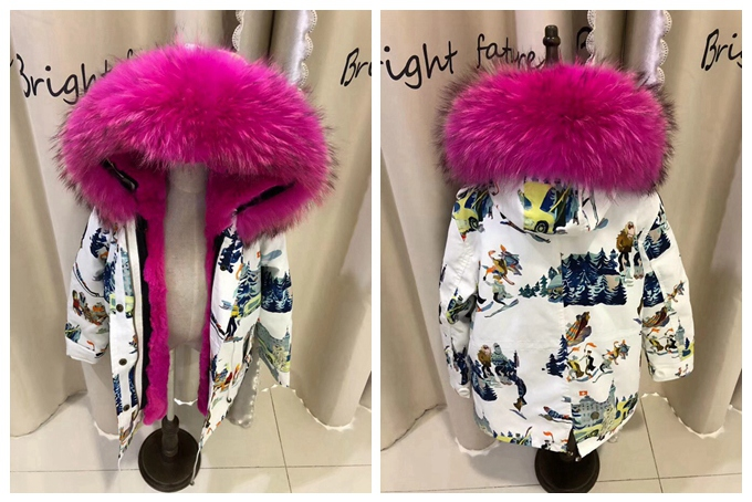 child winter real fur parkas coat (31)