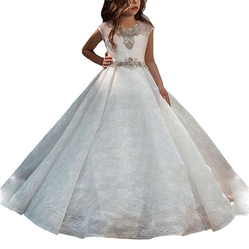 little girls party puffy kids dresse robe petite fille first communion dresses with train vestido de daminha white dress girllittle girls party puffy kids dresse robe petite fille first communion dresses with train vestido de daminha white dress girl