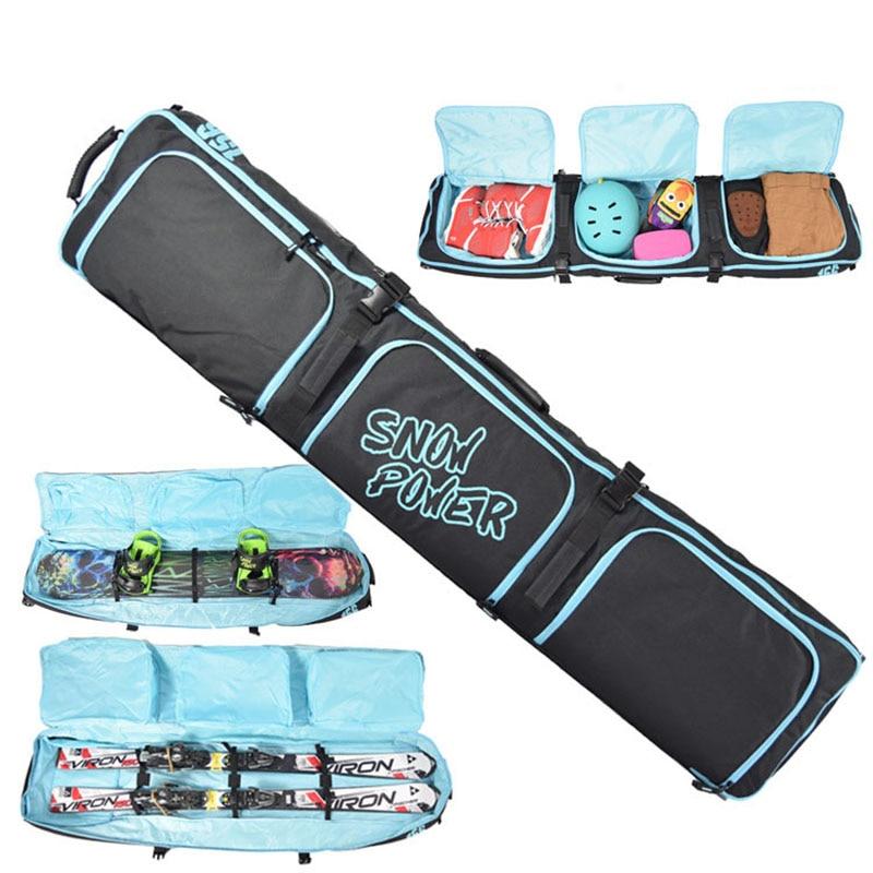 Skiing Snowboard Bag Ski 106-180cm Scratch-Resistant Monoboard Plate Protective Case Dumpling Skiing Board Bag large capacity