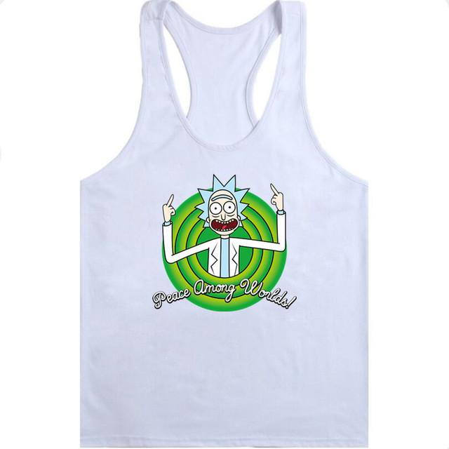 2018 new Fashion Cartoon Tank vest rick and morty worlds men MSwomen Tank vest funny Tank vest Cool Rick Morty men Tank vest