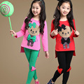 Children Girls Clothing Sets Cute Bear T-Shirts For Girls Bow Leggings Cotton Kids Clothes Summer Spring Vestidos Teen & Pants