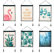 Baby Shower Flamingo Wall Background Hanging Art Cloth Wedding Birthday Party Room Decoration Ins Nordic Style Photo Booth