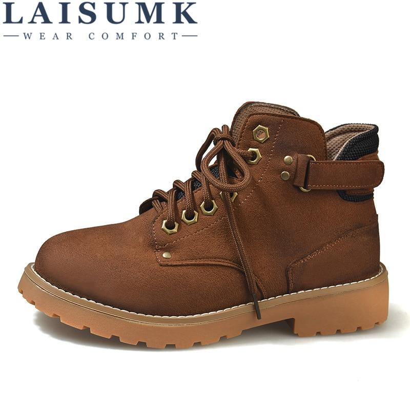 LAISUMK Fashion Women Martin Boots Autumn Winter Classic Zipper Snow Ankle Suede Warm Fur Plush Shoes