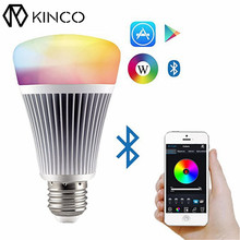 KINCO E27 8W AC85-265V RGB+CCT 16 Millions Colors Bluetooth App Control Dimmable LED Smart Home Light Bulb for IOS/Android