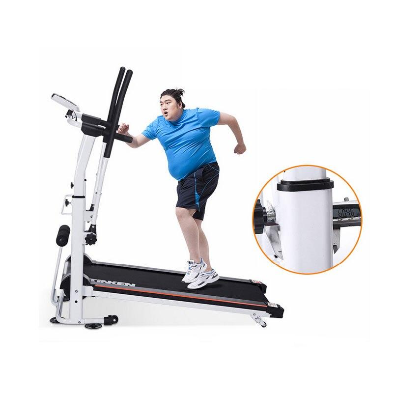 Nouvelle mécanique tapis roulants équipement d'exercice pour la maison à l'intérieur de marche machine mini tapis roulant pliant sans électricité 1 pc