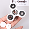 Alta Qualidade Branco Tri-Spinner Fidget Brinquedo Plástico EDC Agita Mão Spinner Para Aumentar O Foco Do Autismo e TDAH Manter mãos Ocupadas