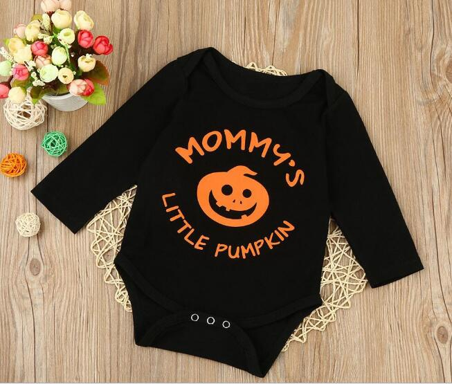 Halloween Newborn Baby Toddler Girls Boys black Romper Jumpsuit Clothes Cotton One-piece Outfit 0-18M Autumn