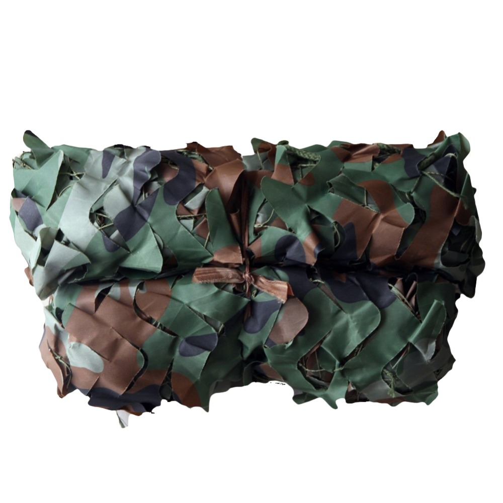 цена на Military Camo Camouflage Woodlands Net Netting Duck Deer Hunting Blind Camping 4m*4m Two layer