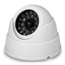 MOOL 2 x Dummy Fake Surveillance Security CCTV Dome Camera With LED Blinking Real imitation White