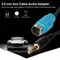 Kkmoon 3.5mm aux cabo adaptador de linha de conexão de áudio para alpino kce-236b para ipod iphone 6 s 6 plus 6 5S 5 5c MP3