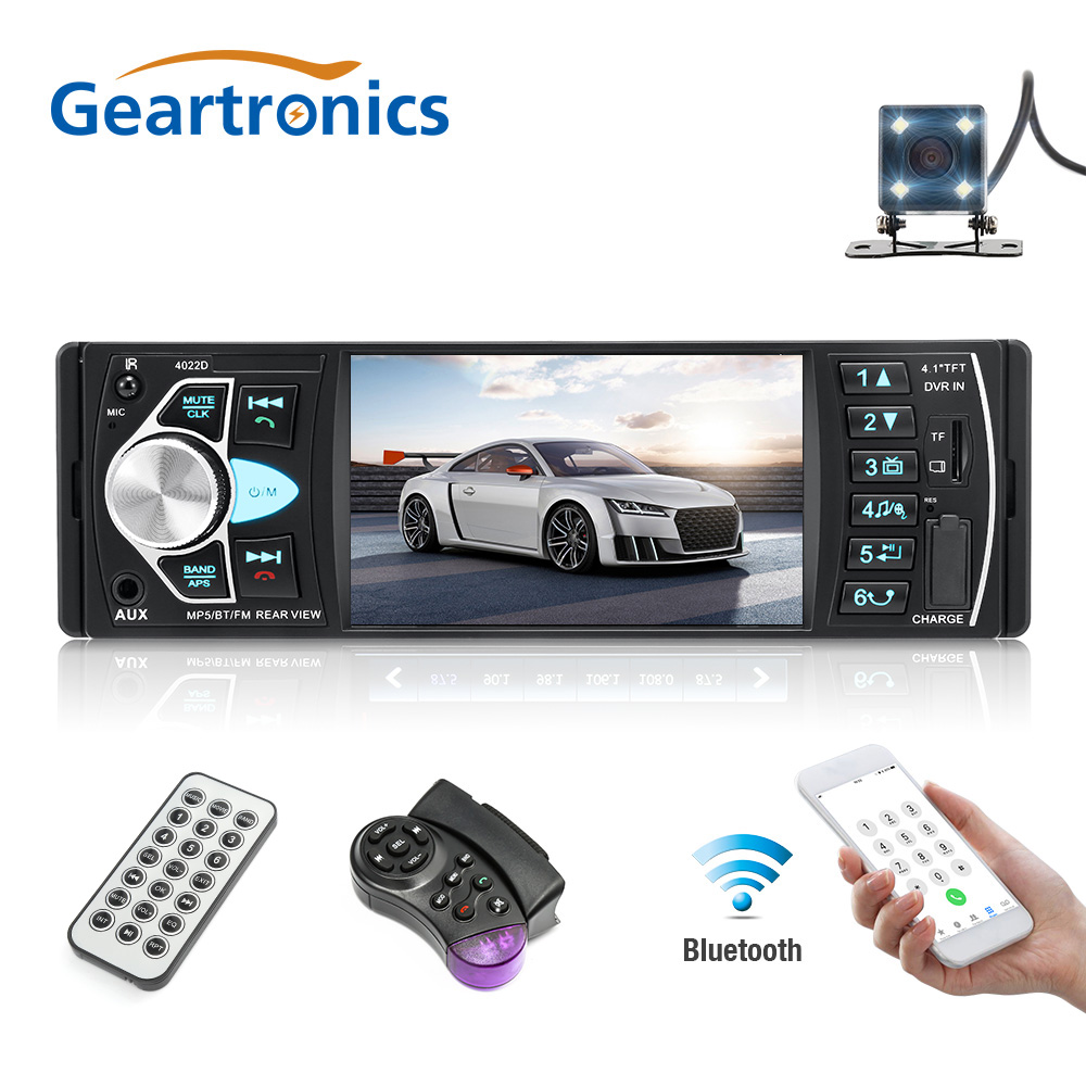 4022D 4 1 inch 1 Din Car Radio Auto Audio Stereo Autoradio Bluetooth Support Rear View